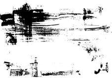 Svart tryckborstetextur på vitbokvektor royaltyfri illustrationer