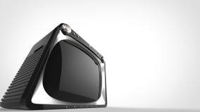 Svart TV för tappning - toppet brett vinkelskott vektor illustrationer