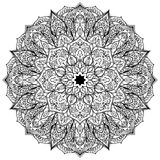 Svart utsmyckad mandala för vektor Arkivfoton