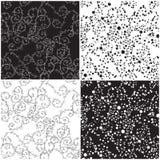 svart utsmyckad texturwhite Royaltyfri Fotografi