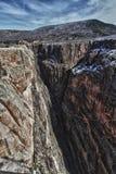 svart vägg för park för kanjonco-gunnison royaltyfria foton