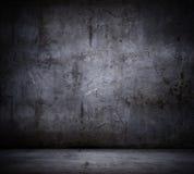 Svart väggbakgrund Royaltyfria Bilder