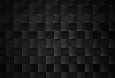 svart vävd lädertextur Royaltyfri Foto