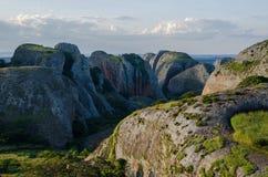Svart vaggar på Pungo Andongo eller Pedras Negras i Angola Arkivfoton
