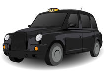 svart vagnsvagnshäst london Arkivbild