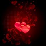 svart valentin för kortdag s Arkivbild