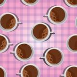 Svart varmt kaffe stock illustrationer