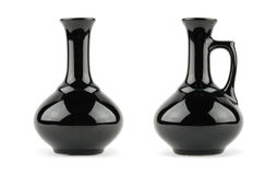 svart vase Arkivfoto