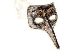 svart venetian guldmaskering Arkivbild