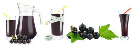 Svart vinbärfruktsaft och meter Royaltyfri Bild