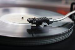svart vinyl Arkivbilder