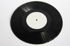 Svart vinyl som isoleras på vit Royaltyfria Bilder