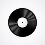 Svart vinylrekord som isoleras på vit bakgrund Arkivfoto