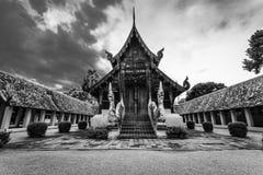 Svart-vit arkitektur i Chiang Mai Royaltyfri Foto