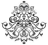 Svart-vit dekorativ ram Royaltyfria Foton
