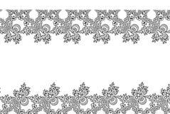 Svart vit snör åt fractalblommor formar med ett kopieringsutrymme Royaltyfri Foto