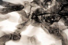 Svart vit vaxartad abstrakt bakgrund med skuggor Arkivfoton