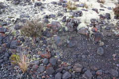 Svart vulkaniskt vaggar Arkivbild