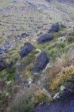 Svart vulkaniskt vaggar Arkivfoton