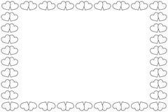 svart white för hjärtor två Arkivfoto