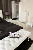 svart white för sovrum Royaltyfria Bilder