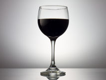 Svart wineglass Royaltyfria Foton