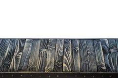 Svart Wood hylla- eller tabellöverkant royaltyfria bilder