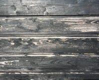 Svart wood vägg Arkivbilder