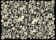 svart yellow för blommalampaprydnad Arkivfoton