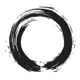 Svart Zen Brush Circle Stroke Vector konst Royaltyfria Foton