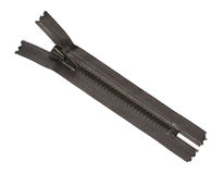 svart zipper Royaltyfri Bild