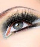 svarta ögonfranser long Royaltyfri Foto