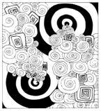 svarta abstrakt begreppvirvlar Royaltyfri Illustrationer