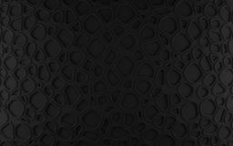 Svarta abstrakta celler förtjänar bakgrunden 3d som framför geometriska polygoner Fotografering för Bildbyråer