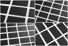 Svarta affärskort på en vit bakgrund Arkivfoton