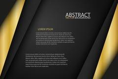 Svarta ark för för bakgrundsöverlappningsguld och svart Arkivfoton