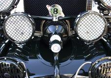 Svarta Bentley 1925 främre sikt Royaltyfri Bild
