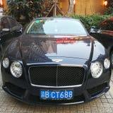 Svarta Bentley Luxury Car Arkivbild