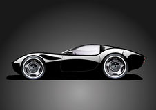 svarta bilsportar Royaltyfri Fotografi