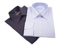 svarta blåa skjortor Royaltyfri Foto