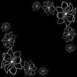 svarta blommor för bakgrund royaltyfri illustrationer