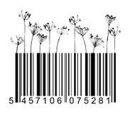 svarta blommor för barcode Arkivfoton