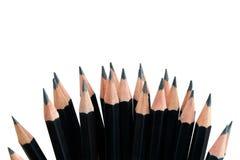 svarta blyertspennor Arkivfoton