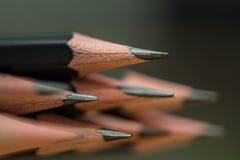 svarta blyertspennor Royaltyfri Fotografi