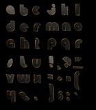 Svarta bokstäver 3D för guld Royaltyfri Foto
