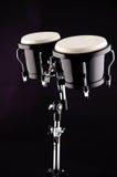 svarta bongos för bakgrund Royaltyfri Fotografi