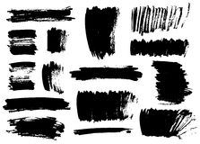 svarta borsteslaglängder Royaltyfri Fotografi
