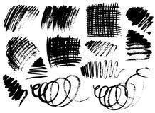 svarta borsteslaglängder Arkivbild