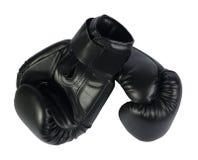 svarta boxninghandskar Royaltyfri Bild