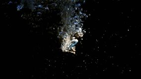 svarta bubblor för bakgrund stock video